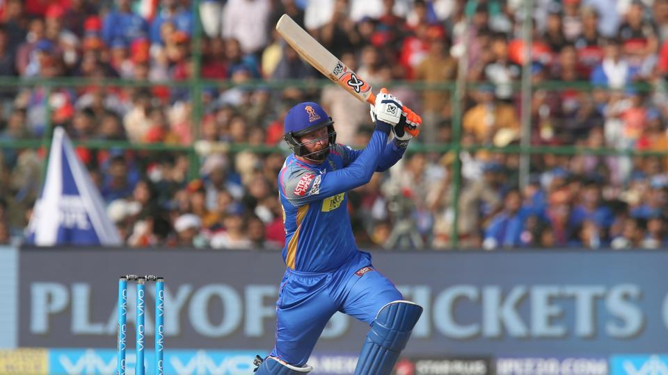 Heinrich Klaasen chipped with a vital cameo and K Gowtham slammed two sixes as Rahul Tripathi's 80* helped Rajasthan Royals reach 164/5. (BCCI)
