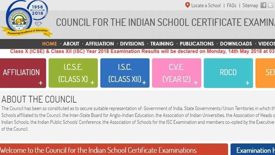 ICSE Class 10 result,ISC Class 12 result,icse result 2018