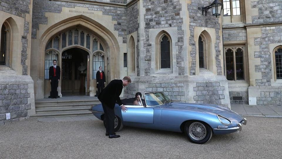 tata motors' classic jaguar takes centre-stage at harry, meghan