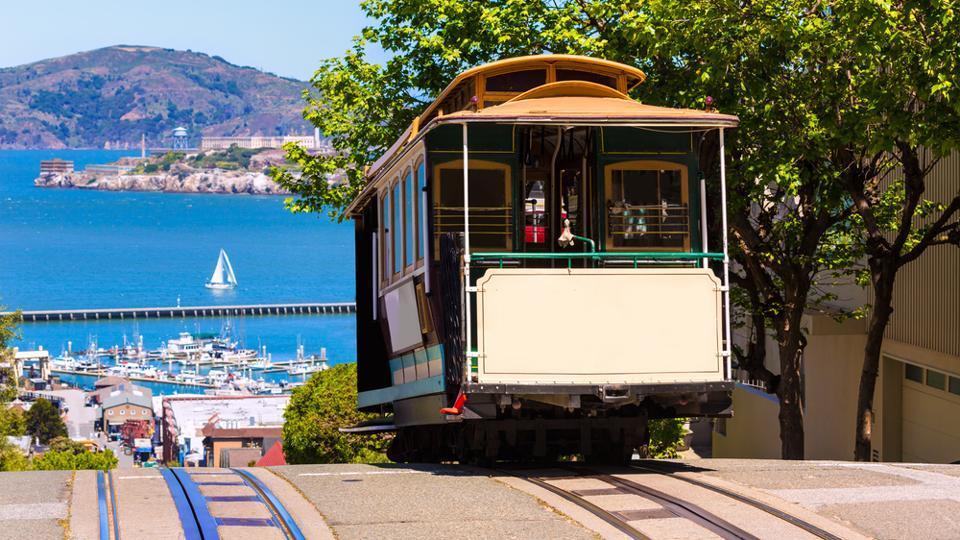 San francisco Hyde Street Cable Car Tram.