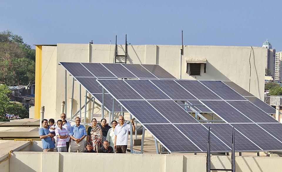 Mulund Darshan housing complex have installed a rooftop solar system of 11.05 kilowatt power (kWp) capacity.
