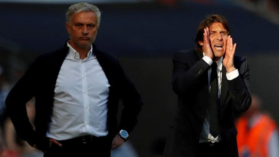 The feud between Jose Mourinho (L) and Antonio Conte gave this final plenty of spark.  (Action Images via Reuters)