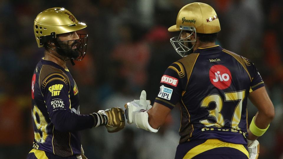 Kolkata Knight Riders defeated Sunrisers Hyderabad by five wickets to reach the IPL 2018 play-offs in Hyderabad on Saturday. (BCCI)
