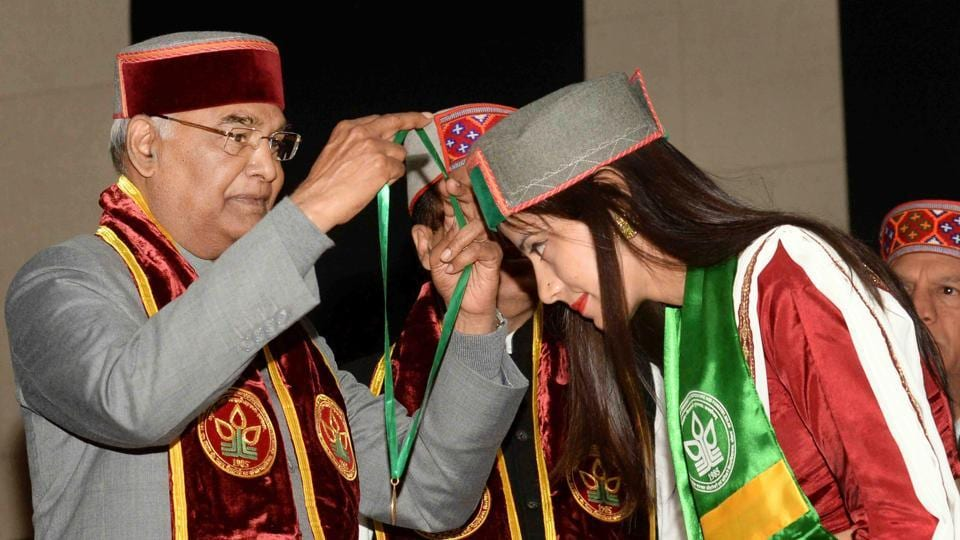 President Kovind,honorary doctorate,YS Parmar University of Horticulture and Forestry