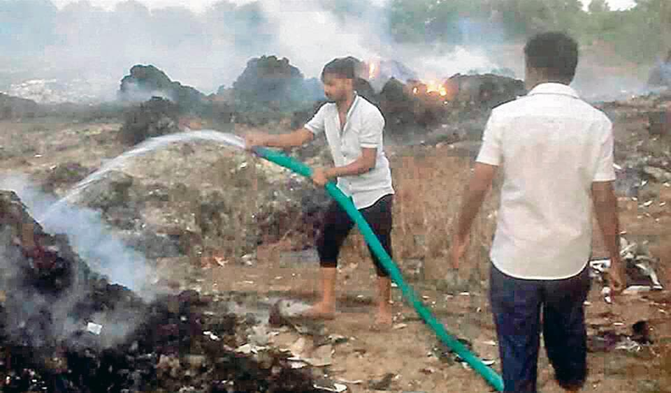 The recent garbage fire in the neighbourhood of Maan and Hinjewadi areas panchayats that lasted three days irked residents.