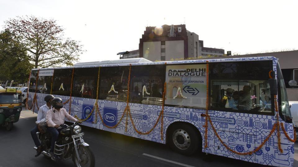 public transport,electric buses,Delhi
