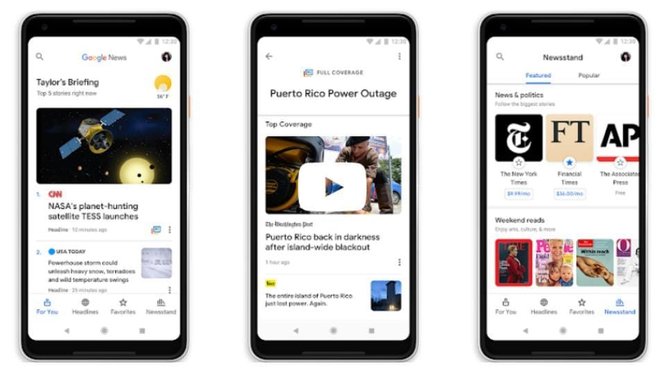 Google News redesign: How to follow tech, science and other