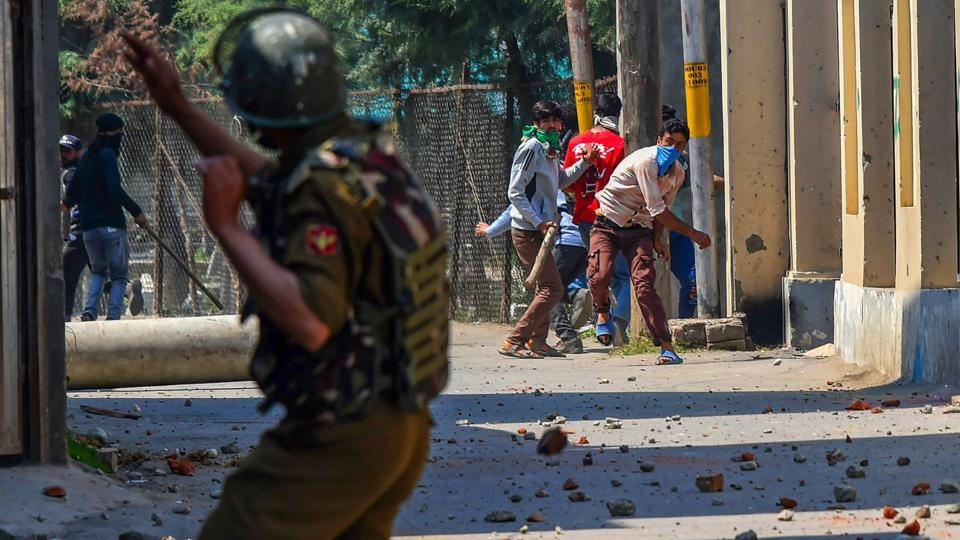 An outreach programme planned by the Army on the occasion of Iftar went awry at a village in Shopian district on Monday evening when a group of youngsters allegedly began pelting stones at security personnel. four people sustained gunfire injuries in the clash that followed. (S Irfan / PTI File)