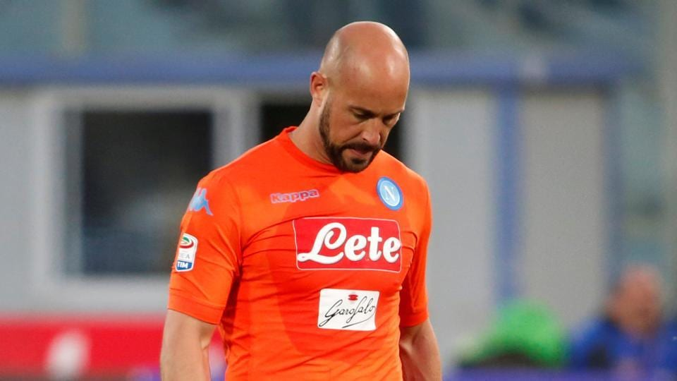 Pepe Reina joined Napoli in 2013, initially on loan before joining permanently in 2015.
