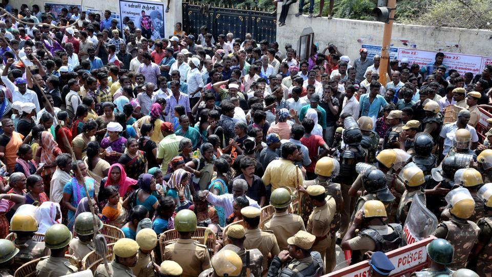Anti Sterlite protest,Tamil Nadu,Srivaikundam