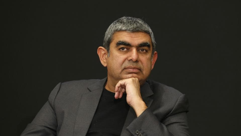 Vishal Sikka had resigned as CEO and managing director effective August 18, 2017 and as executive vice chairman effective August 24.