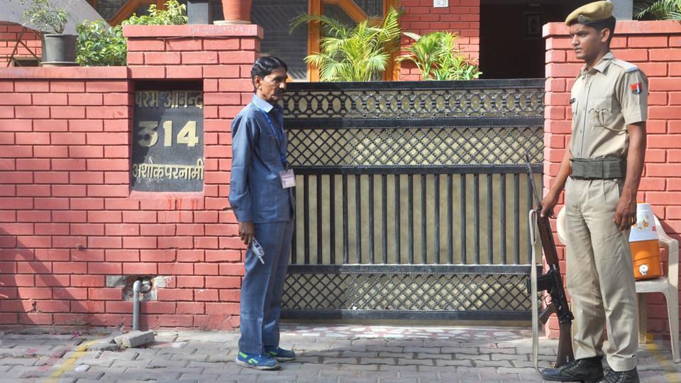 Former state BJP president Ashok Parnami's residence in Jaipur.