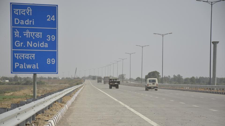 Before the inauguration of the KGP Expressway (pictured), PM Modi would inaugurate a digital art gallery of the National Highway Authority of India at the toll plaza in Jakhauli village in Sonipat.