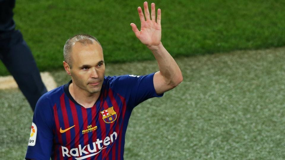 Andres Iniesta announced at a news conference in April that he was calling time on his long career with Barca, where he moved to aged 12 in 1996 to join the club's academy