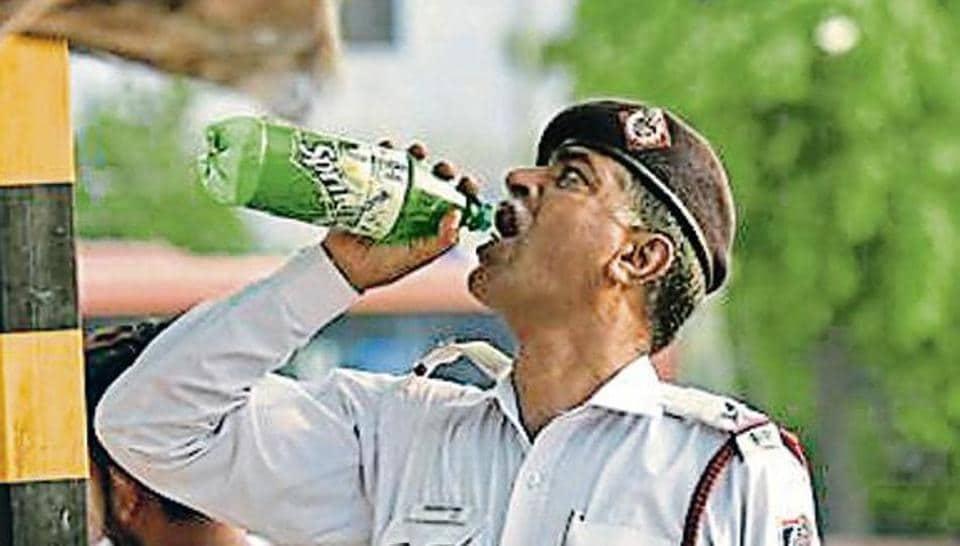 Delhi temperature,Delhi traffic police,Delhi heatwave