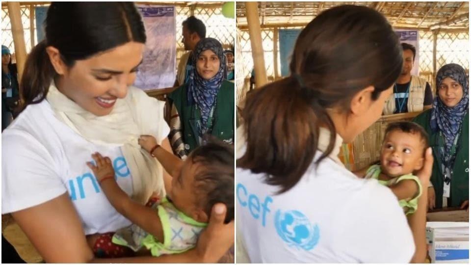 Priyanka Chopra,Priyanka Chopra Bangladesh,Rohingya Refugees