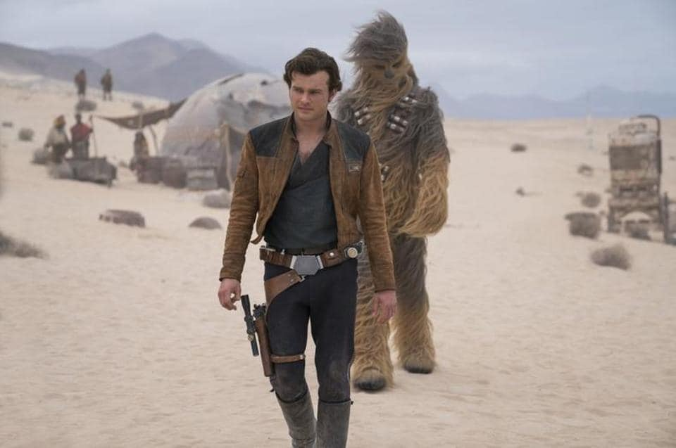 Ayoungster named Solo (Alden Ehrenreich) steps into the cockpit of the Millennium Falcon in place of Harrison Ford, who had owned the role since 1977, flees his home planet in pursuit of his lady love and teams up with a band of criminals.