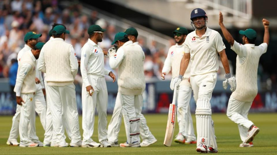 Pakistan bowled England out for 184 on Day 1 of the Lord's Test. Follow full cricket score of England vs Pakistan, 1st Test, here