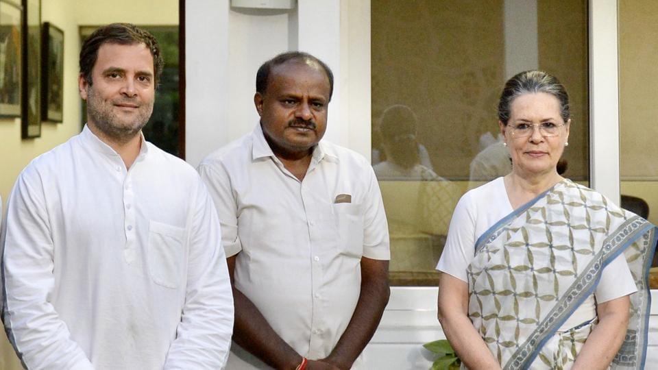 H D Kumaraswamy,Rahul Gandhi,Karnataka