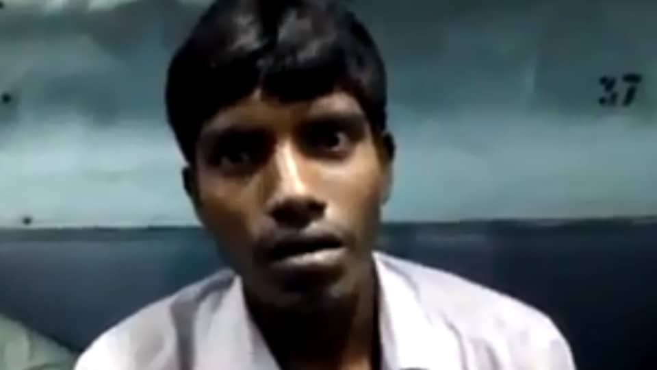 The victim, a migrant labourer, was on his way to Kaliachak in Malda district from Howrah on May 14, when the four persons got into the train and started beating him for unable to answer their questions.