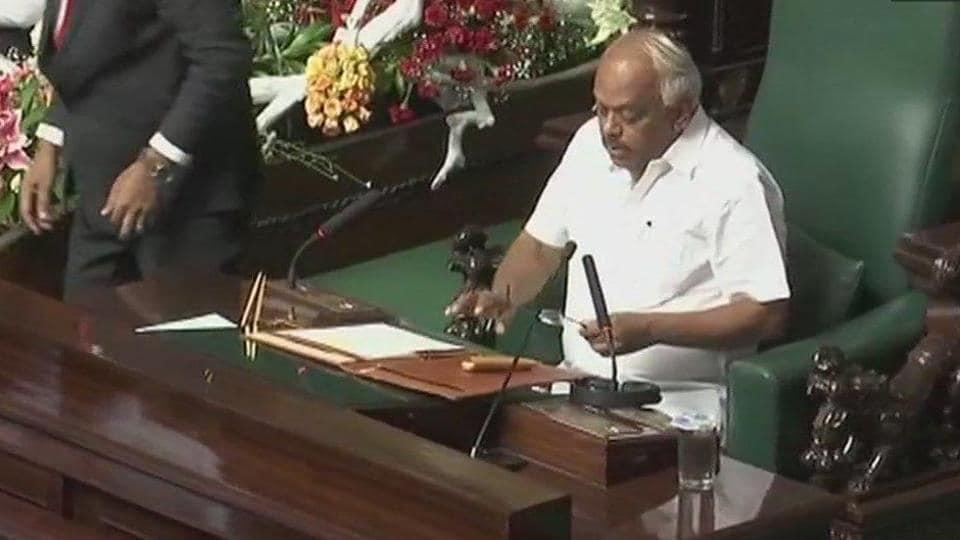 Ramesh Kumar,Karnataka assembly Speaker,Karnataka floor test