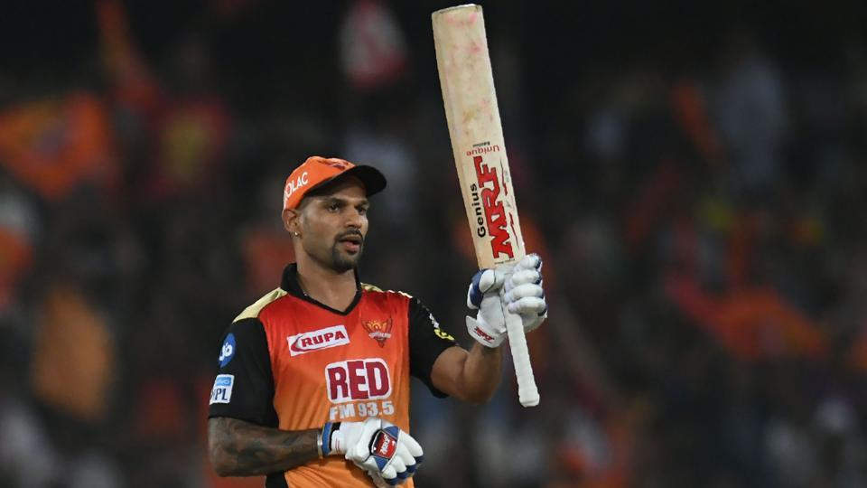 Shikhar Dhawan failed in Sunrisers Hyderabad's last game but has been key to team's success in Indian Premier League 2018.