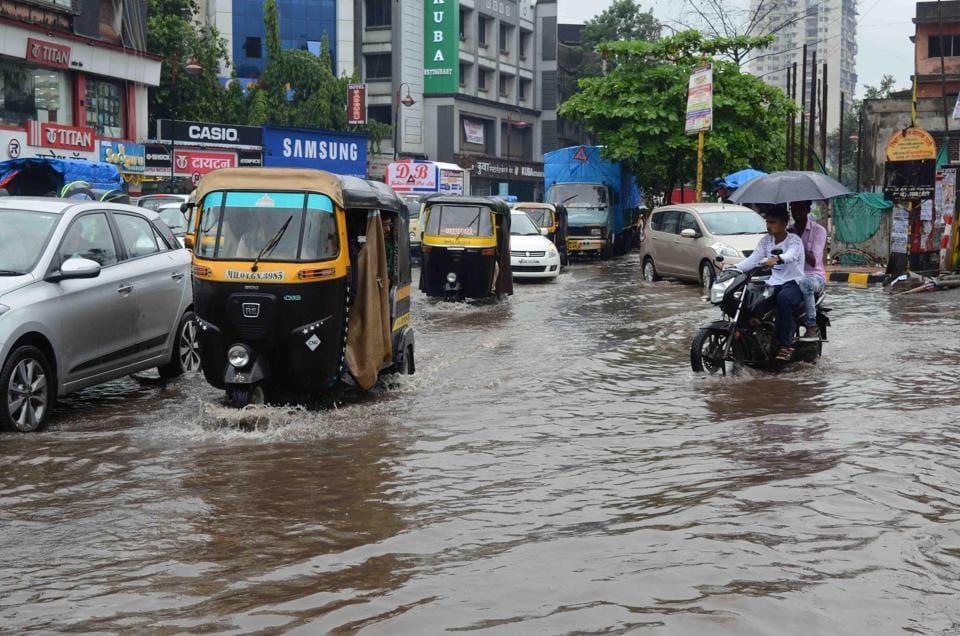 Shivaji Chowk in Kalyan was comletely water-logged during monsoon in June last year