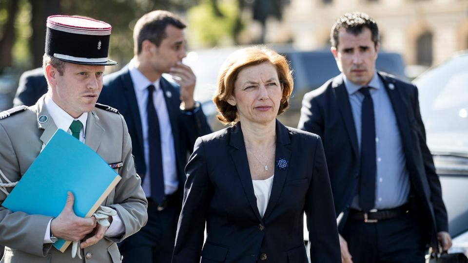 French defence minister Florence Parly said on Thursday the two agents were suspected of delivering information to a foreign power.