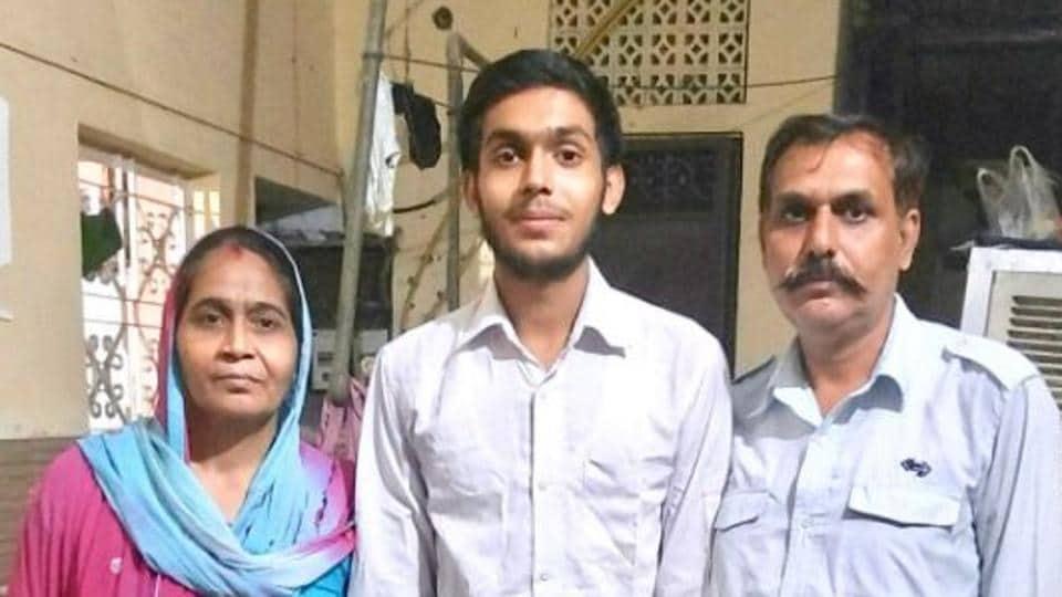 Prince Kumar with his parents.