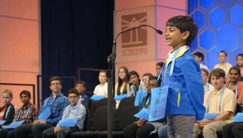 Akash Vukoti first entered the spelling bee contest when he was just 2 years old.
