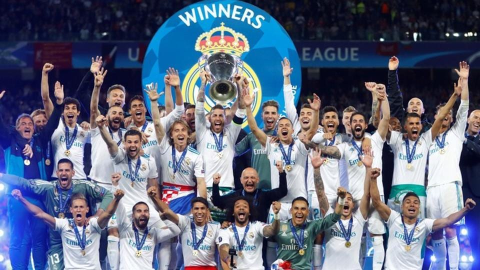 Real Madrid were crowned kings of Europe for a third successive year after they beat Liverpool 3-1 in the final of the Champions League in Kiev.  (REUTERS)