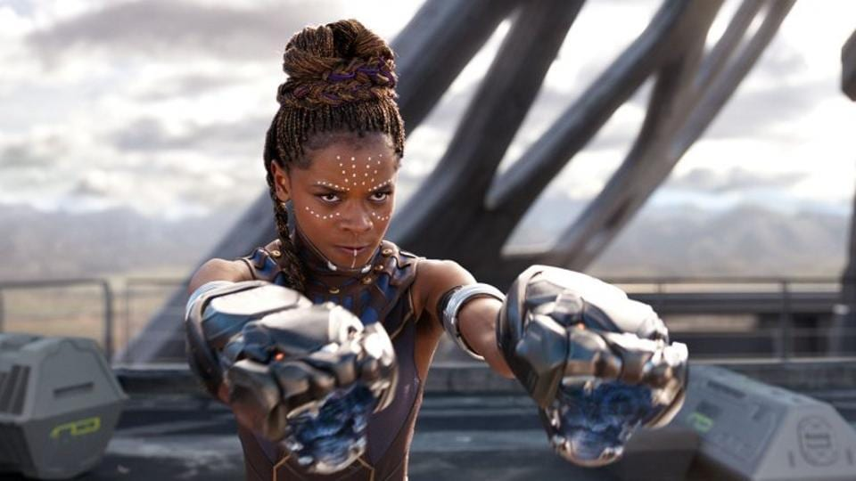 Letitia Wright as Princess Shuri in Black Panther.