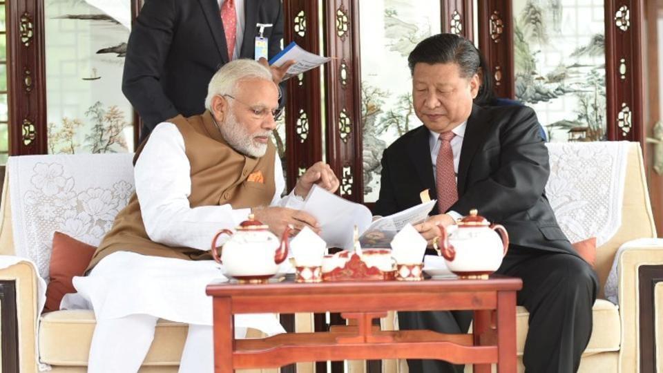 Narendra Modi,X Jinping,Sushma Swaraj
