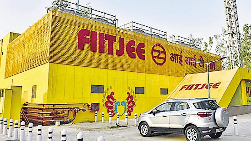 The FIITJEE-IIT metro station in New Delhi.