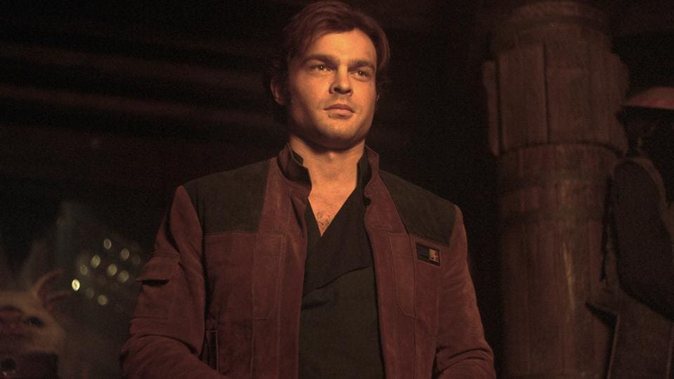This image released by Lucasfilm shows Alden Ehrenreich as Han Solo in a scene from Solo: A Star Wars Story.
