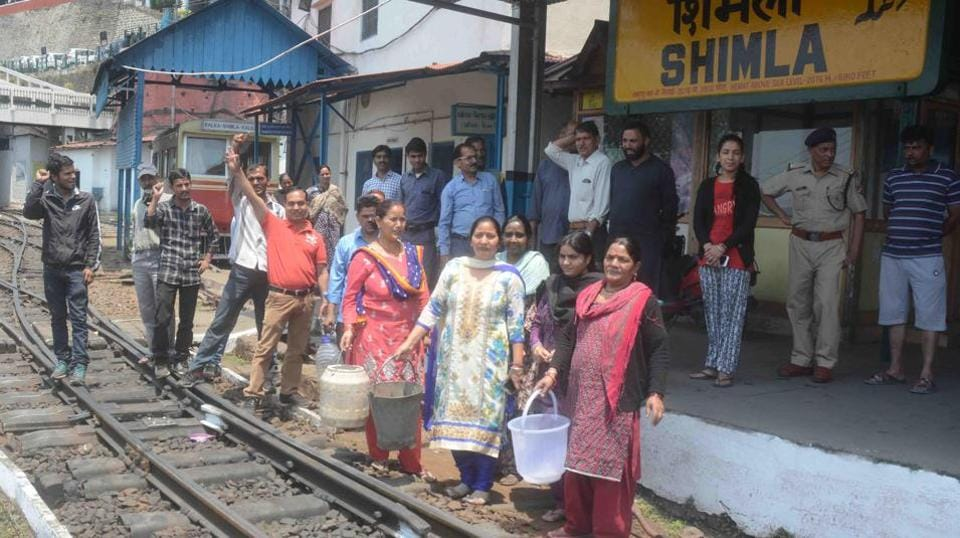 Shimla,water crisis,water scarcity