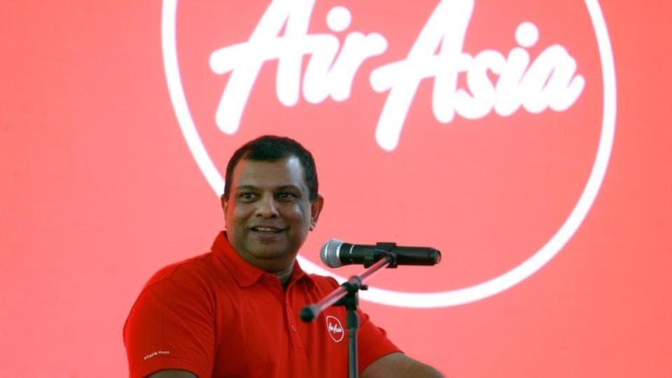 AirAsia Group CEO Tony Fernandes speaks during a news conference at the AirAsia headquarters in Sepang, Malaysia.