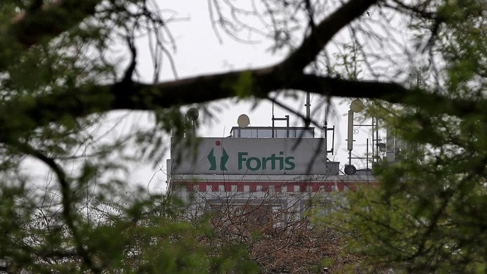 A Fortis hospital building is pictured in New Delhi, India.