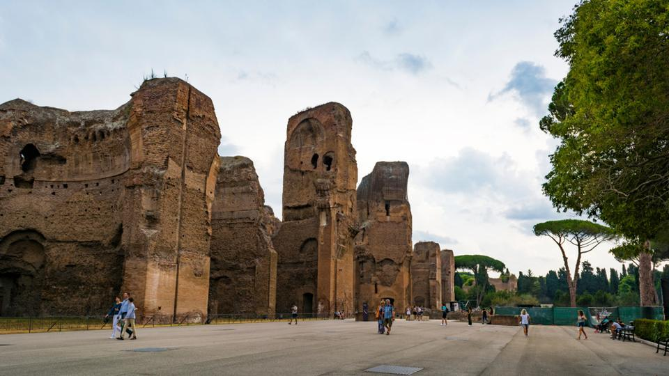 Ruins of the Baths of Caracalla.