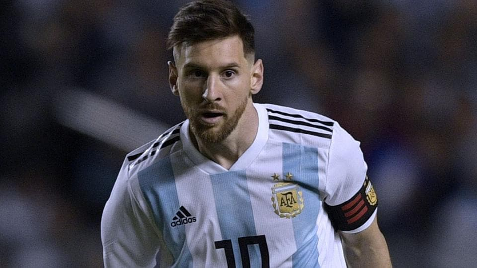 Argentina's Lionel Messi during the international friendly football match against Haiti at Boca Juniors' stadium La Bombonera in Buenos Aires.