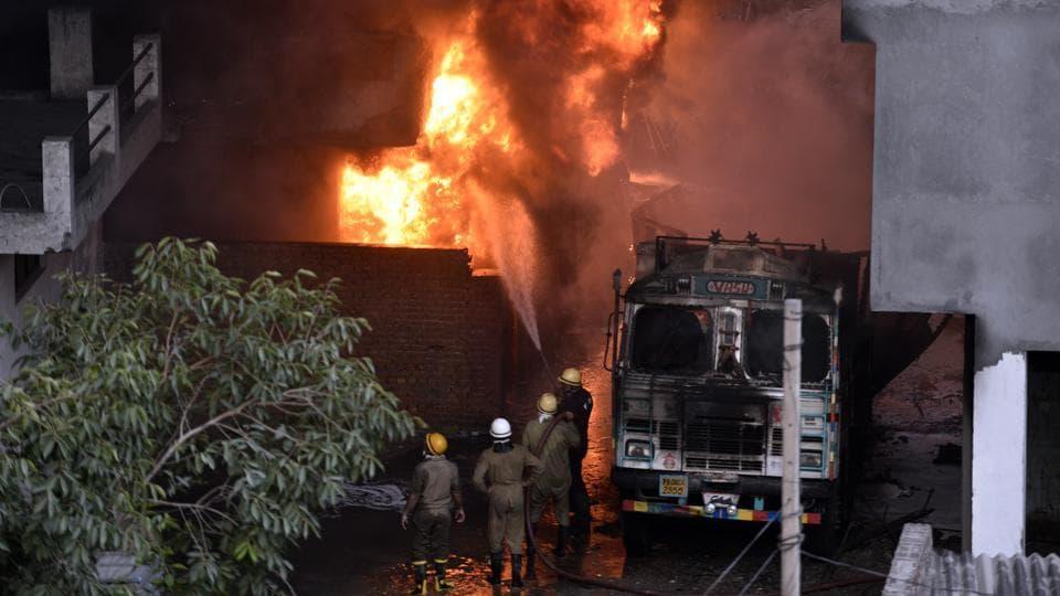 Delhi,Delhi fire,Malviya Nagar
