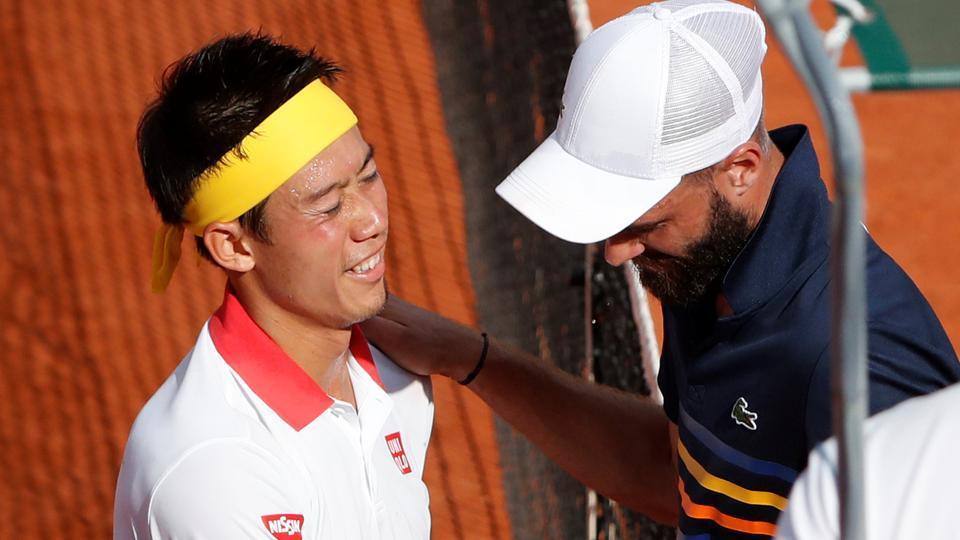 Kei Nishikori,Benoit Paire,French open