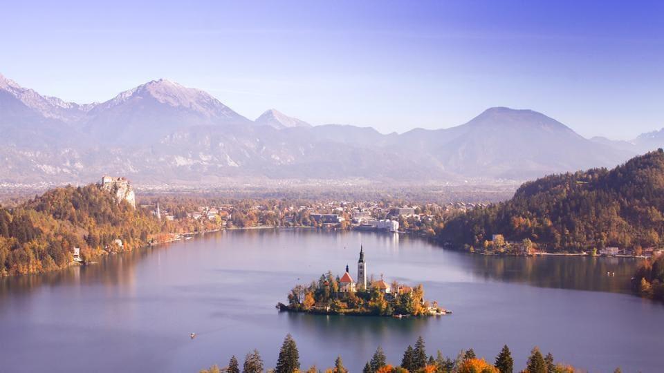 Lake Bled in Slovenia.
