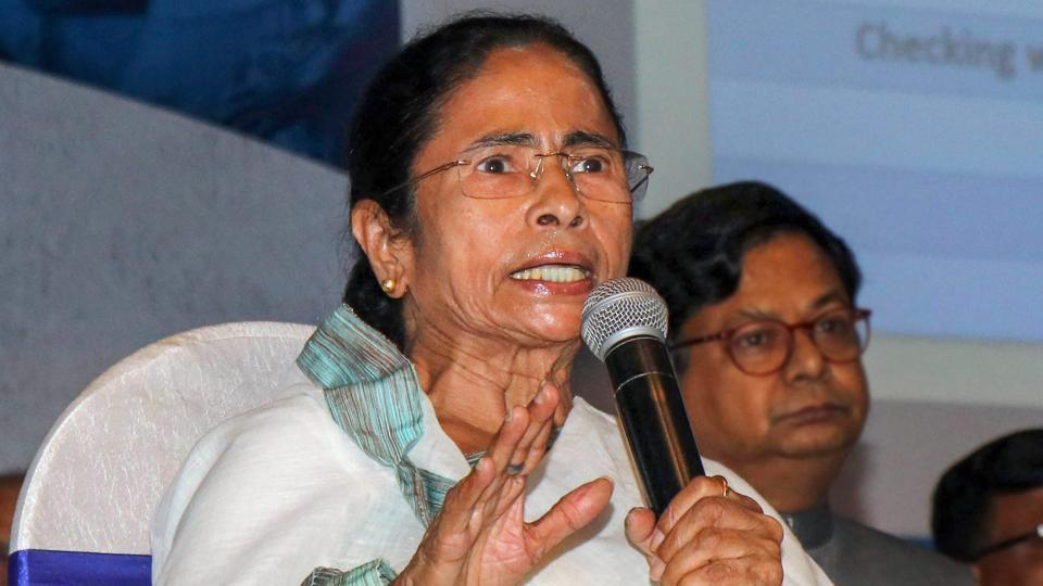 West Bengal Chief Minister Mamata Banerjee speaks during a meeting with the district administration in Birbhum.