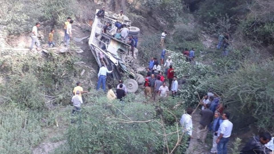 Seven killed,26 injured,Shimla bus accident