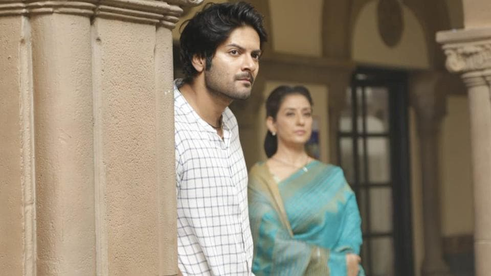 Ali Fazal and Manisha Koirala on sets of Prasthanam.