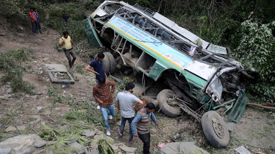 Shimla,road accident,bus accident