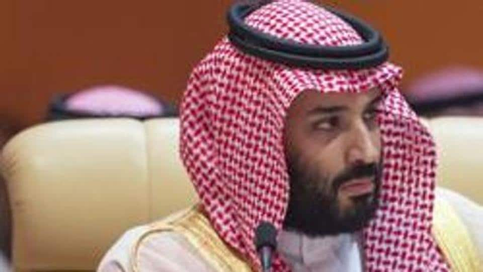 Crown Prince of Saudi Arabia Mohammed bin Salman Al-Saud attending the 29th Arab League Summit in Dhahran.