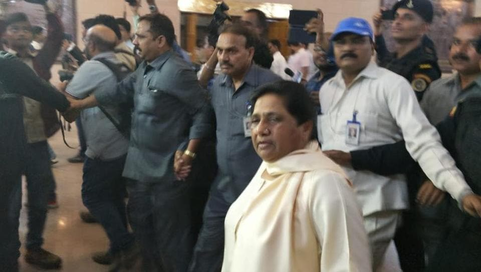 BSP Supremo Mayawati inside her bungalow on Mall Avenue in Lucknow.