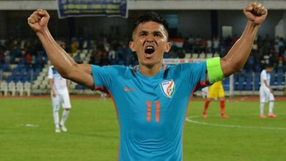 Sunil Chhetri scored a hat-trick for the Indian football team during the Intercontinental Cup 2018 encounter against Chinese Taipei on Friday.